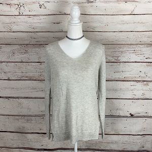 FATE Grey Vneck Sweater Medium